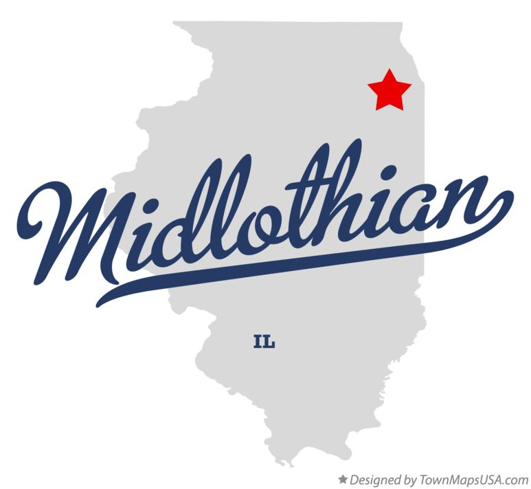 Map of Midlothian Illinois IL