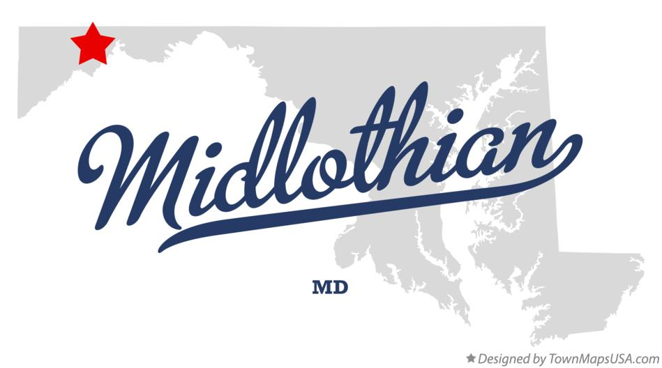 Map of Midlothian Maryland MD