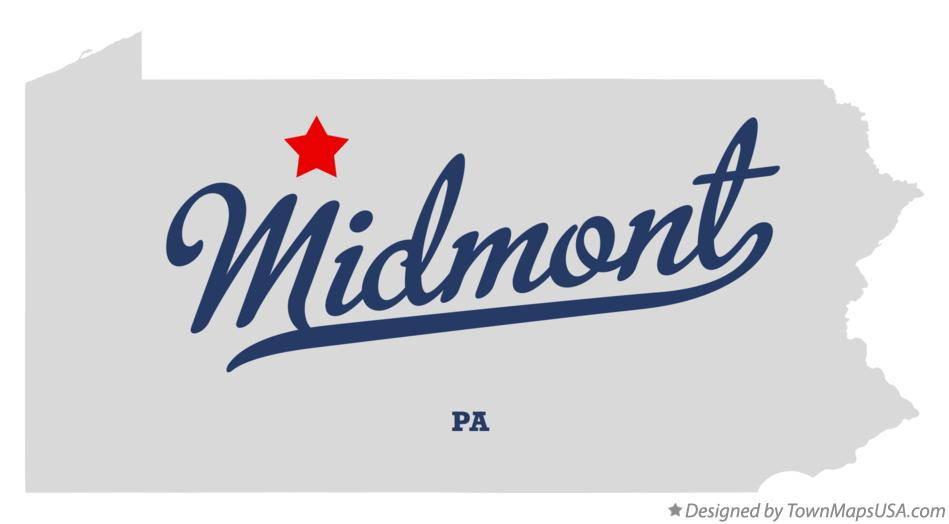 Map of Midmont Pennsylvania PA