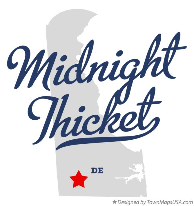Map of Midnight Thicket Delaware DE