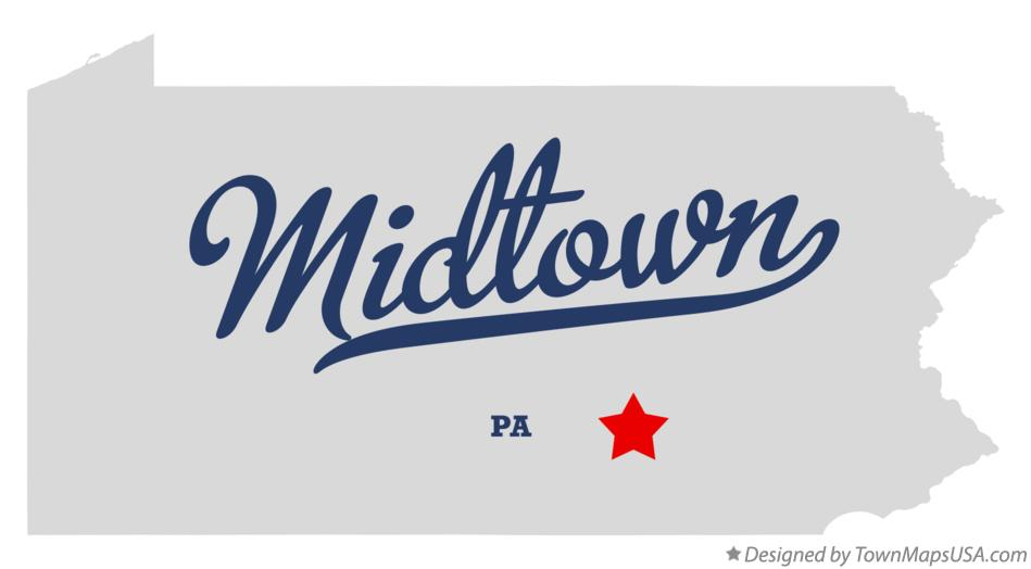 Map of Midtown Pennsylvania PA