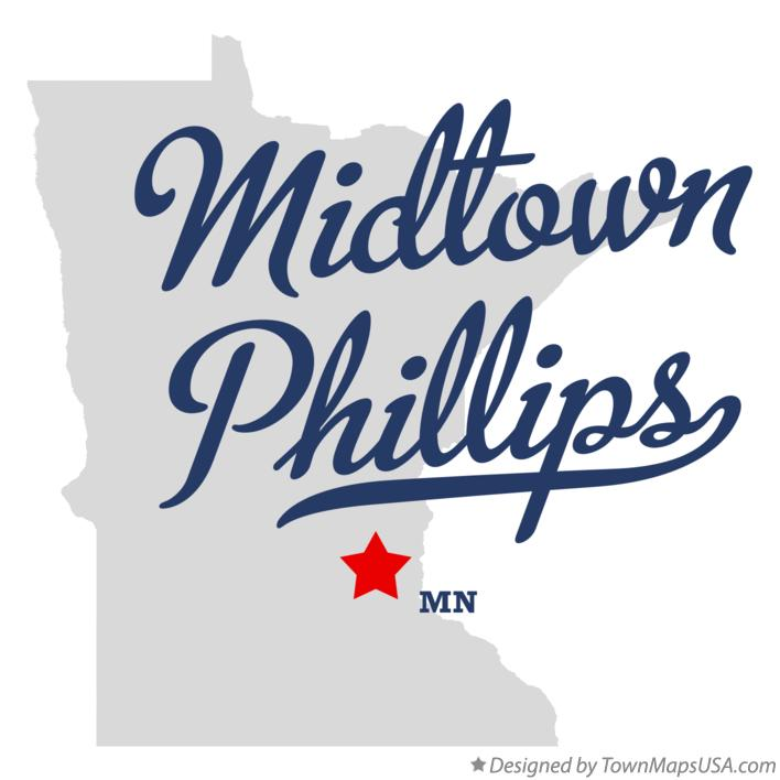 Map of Midtown Phillips Minnesota MN
