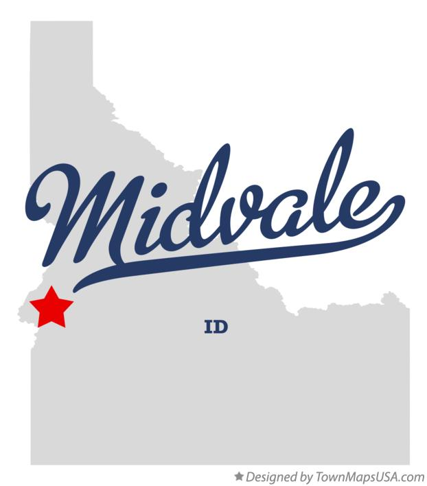 Map of Midvale Idaho ID