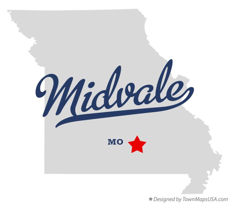 Map of Midvale Missouri MO
