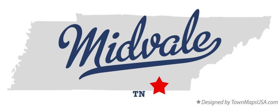 Map of Midvale Tennessee TN