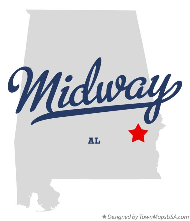 Map of Midway Alabama AL