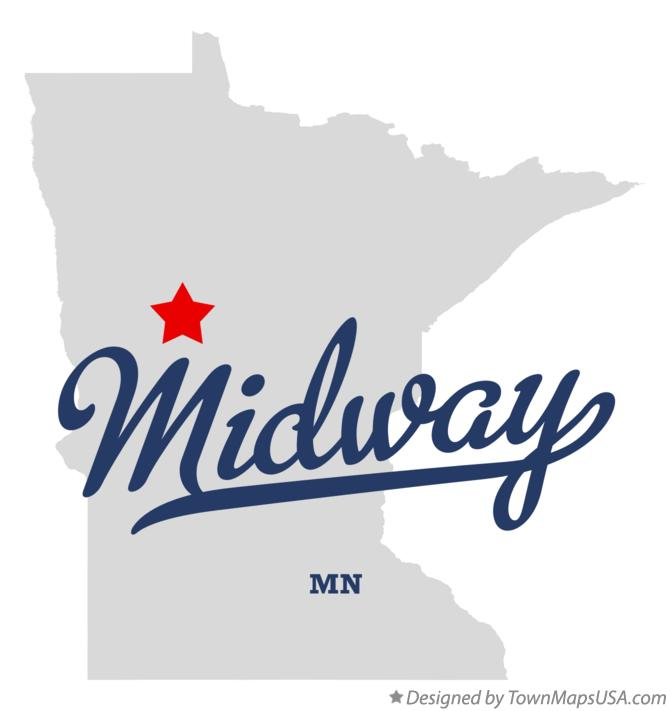Map of Midway Minnesota MN