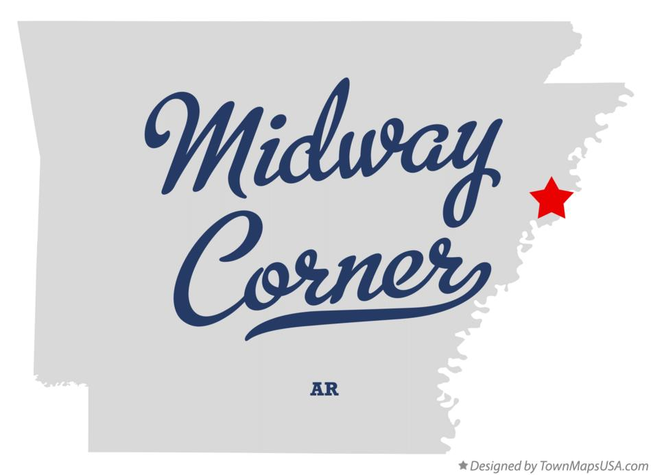 Map of Midway Corner Arkansas AR