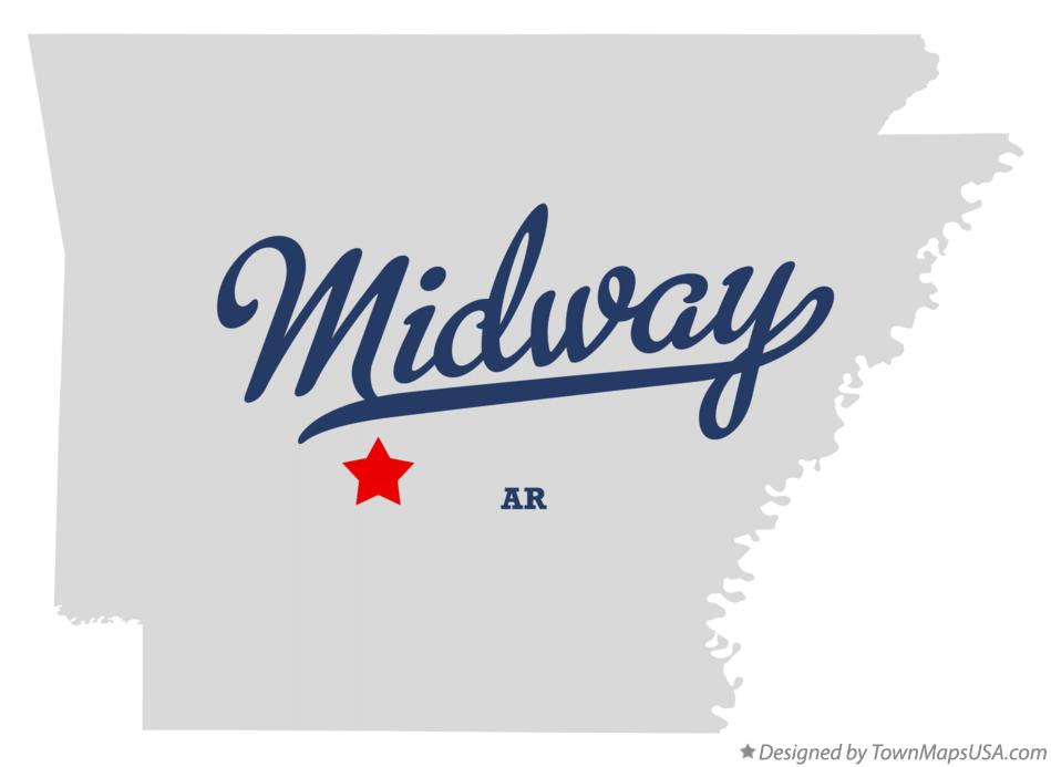 Map of Midway Arkansas AR