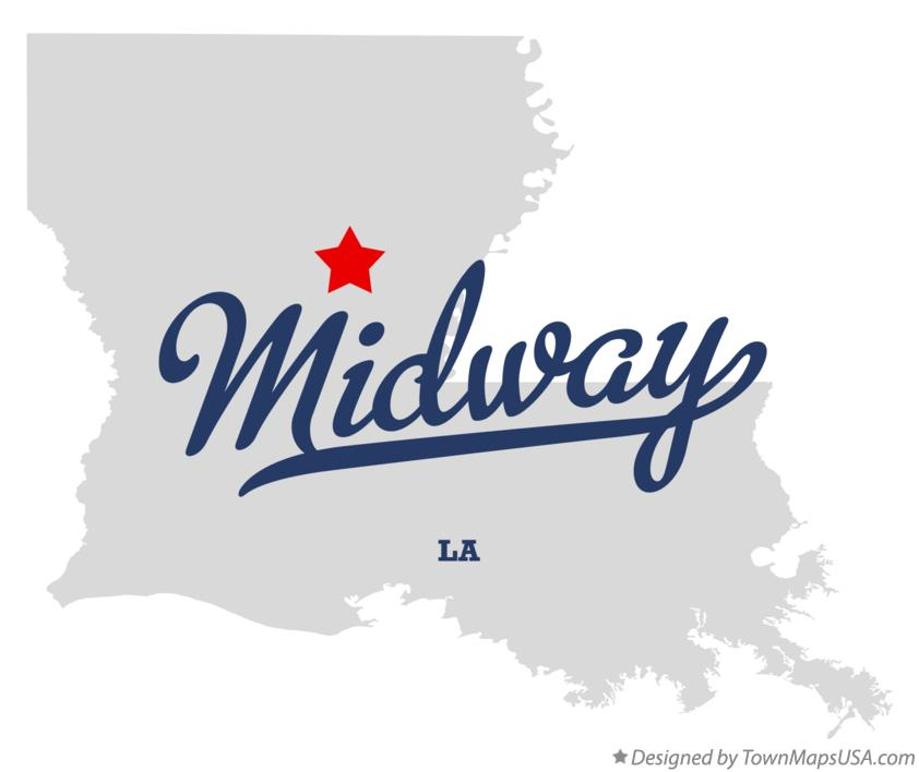 Map of Midway Louisiana LA