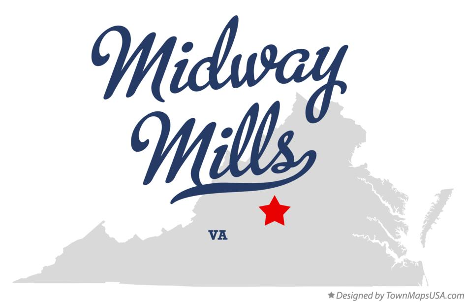 Map of Midway Mills Virginia VA