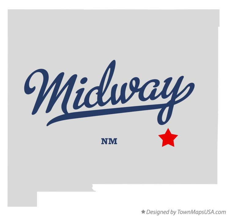 Map of Midway New Mexico NM