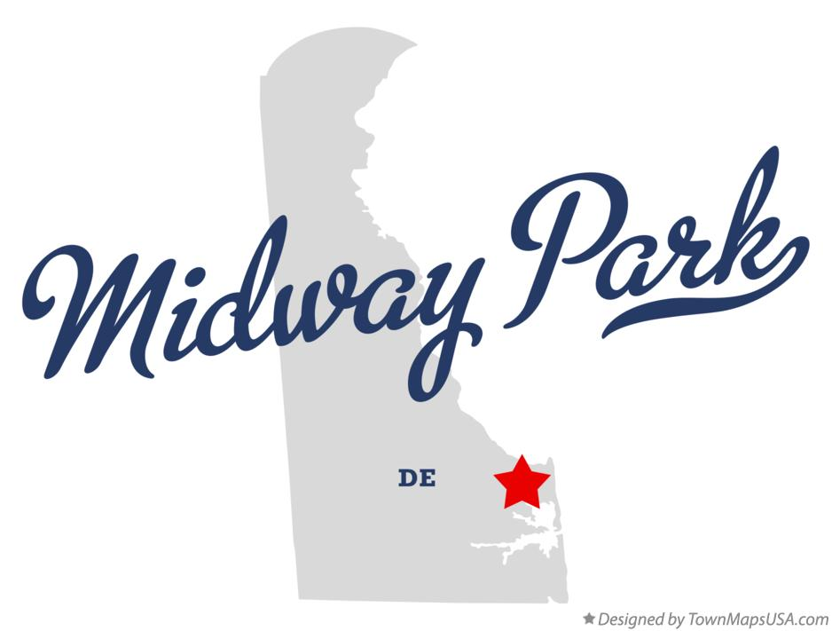 Map of Midway Park Delaware DE