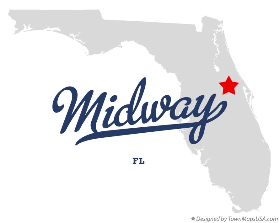 Map of Midway Florida FL