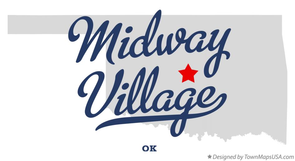 Map of Midway Village Oklahoma OK