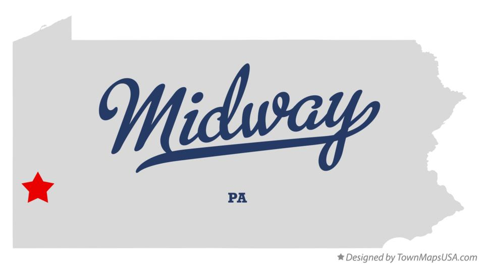 Map of Midway Pennsylvania PA