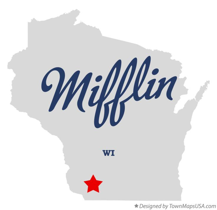 Map of Mifflin Wisconsin WI