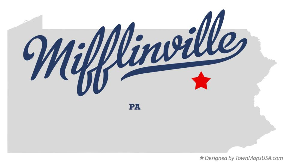 Map of Mifflinville Pennsylvania PA