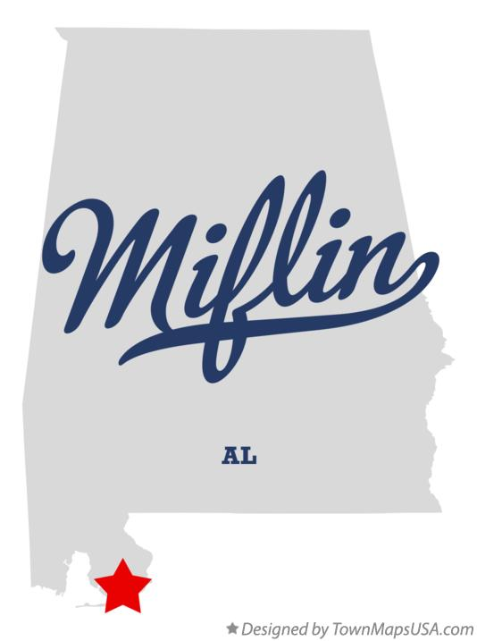 Map of Miflin Alabama AL