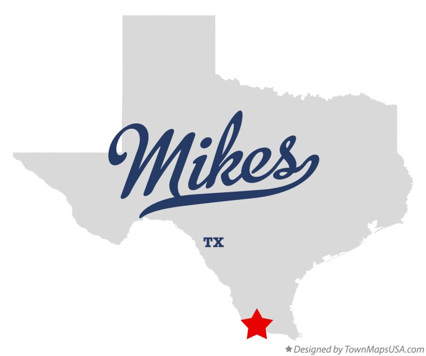 Map of Mikes Texas TX