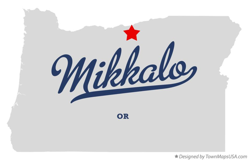 Map of Mikkalo Oregon OR