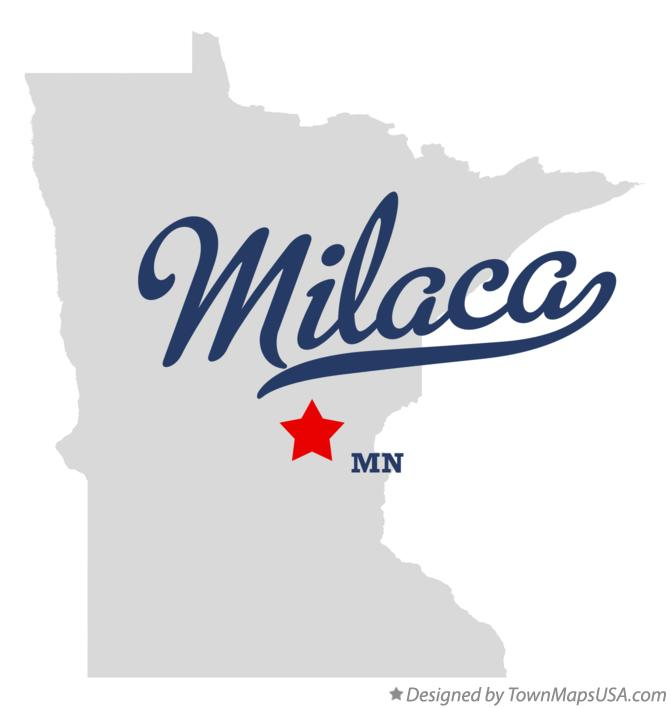Map of Milaca Minnesota MN