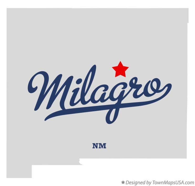 Map of Milagro New Mexico NM