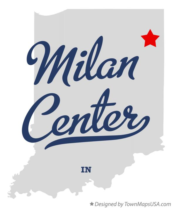 Map of Milan Center Indiana IN