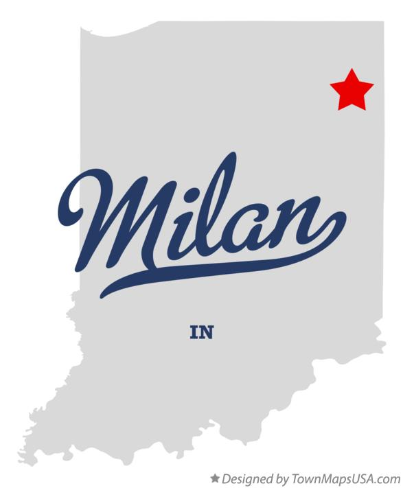 Map of Milan Indiana IN