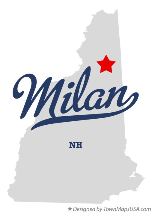 Map of Milan New Hampshire NH
