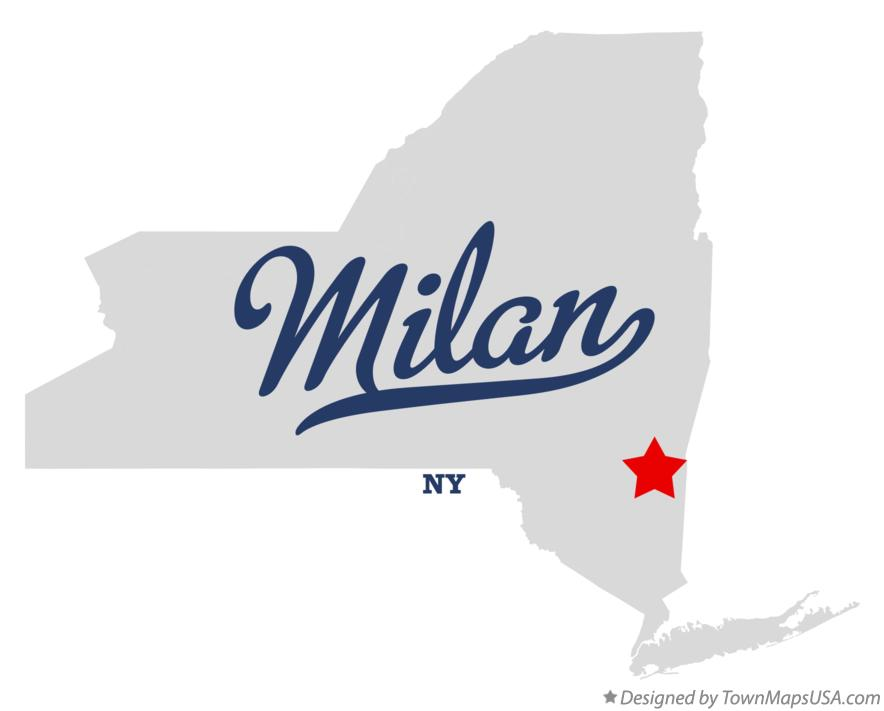 Map of Milan New York NY