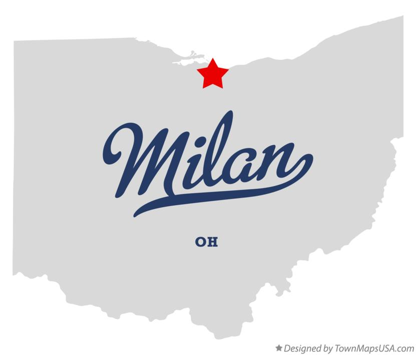 Map of Milan Ohio OH