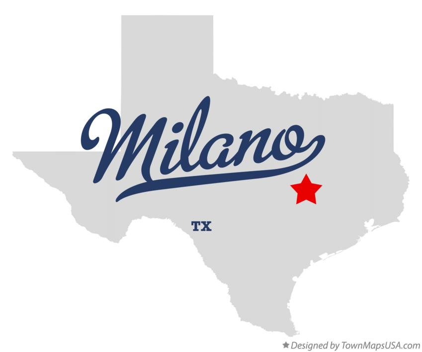 Map of Milano Texas TX