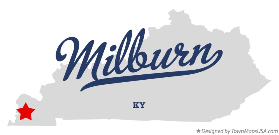 Map of Milburn Kentucky KY