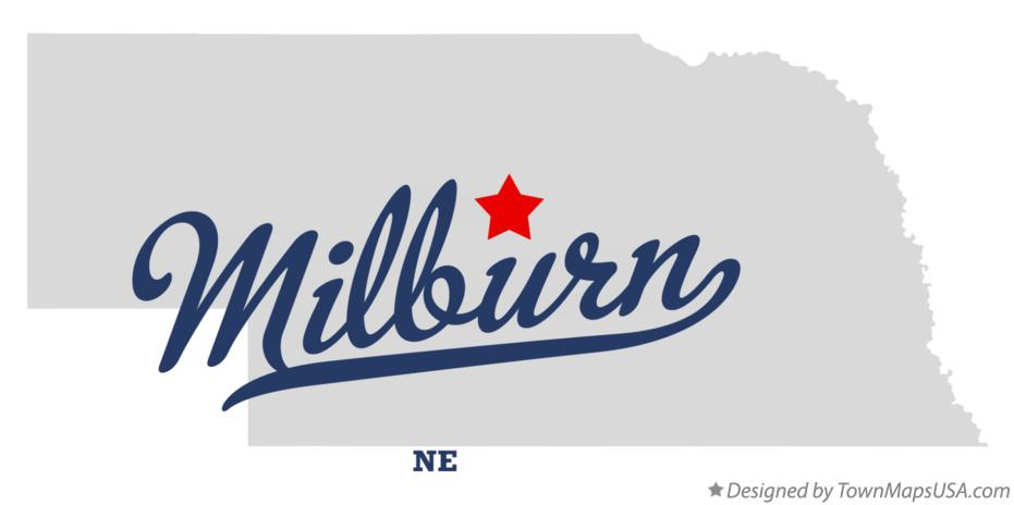 Map of Milburn Nebraska NE
