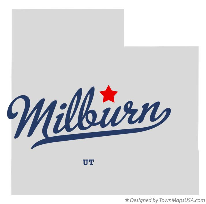 Map of Milburn Utah UT