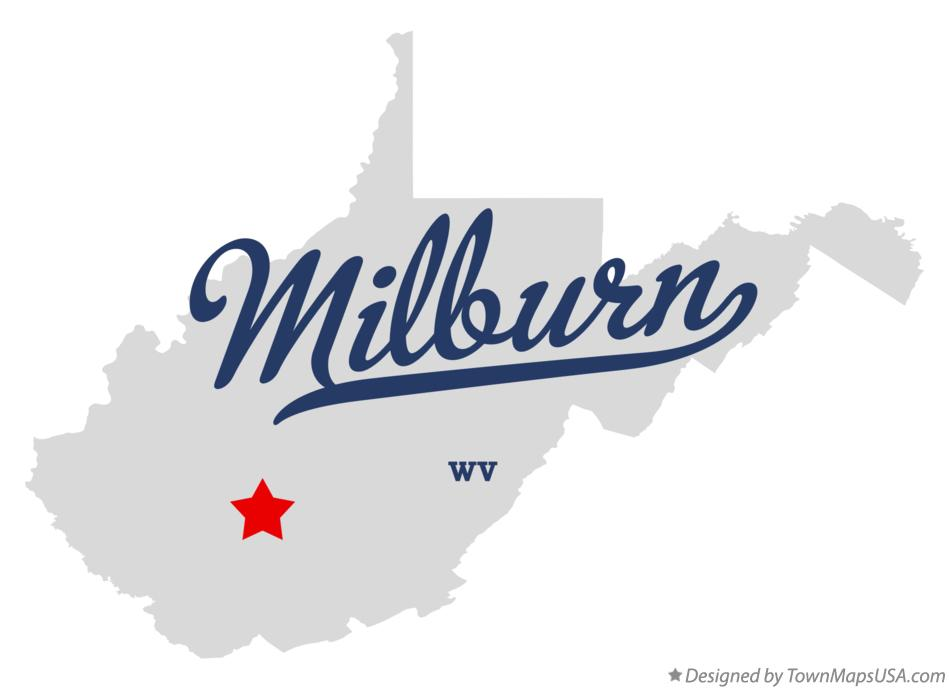 Map of Milburn West Virginia WV
