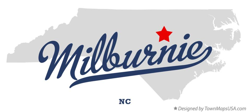 Map of Milburnie North Carolina NC