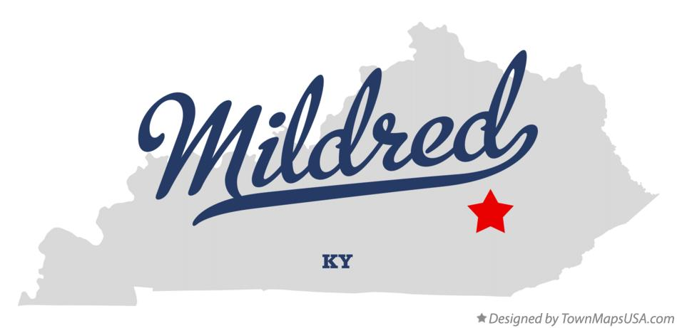 Map of Mildred Kentucky KY
