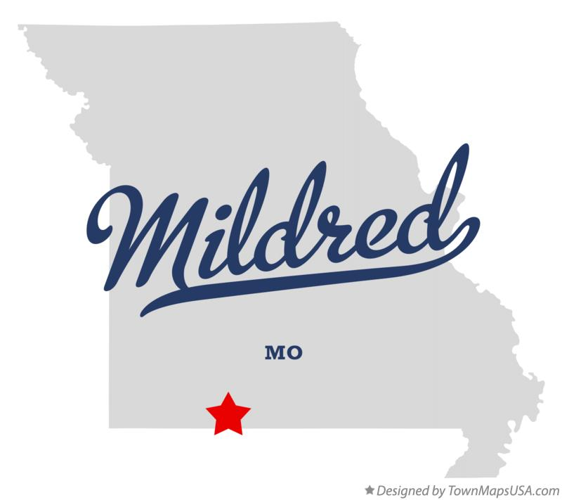 Map of Mildred Missouri MO