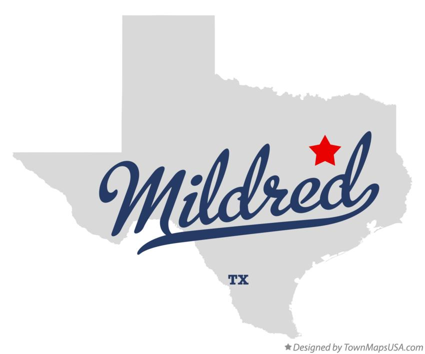 Map of Mildred Texas TX