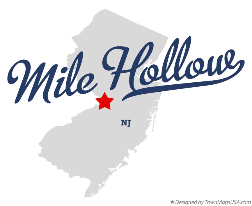 Map of Mile Hollow New Jersey NJ