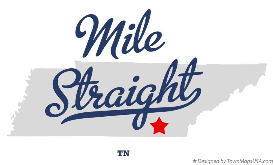 Map of Mile Straight Tennessee TN