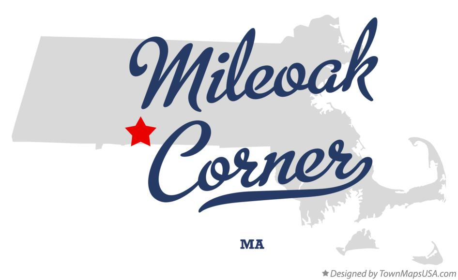 Map of Mileoak Corner Massachusetts MA