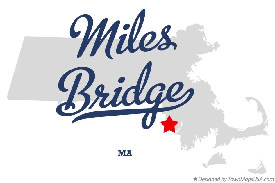 Map of Miles Bridge Massachusetts MA