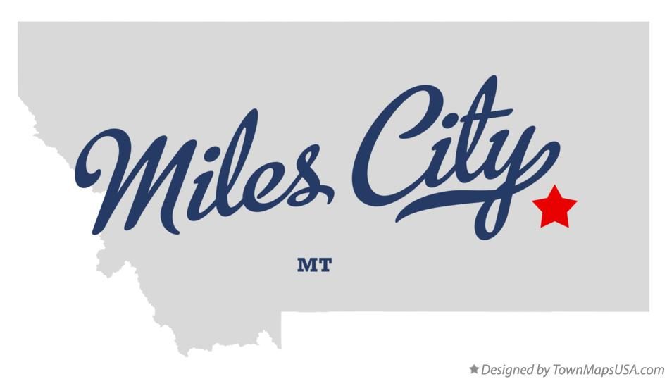 City Map Of Miles City Mt