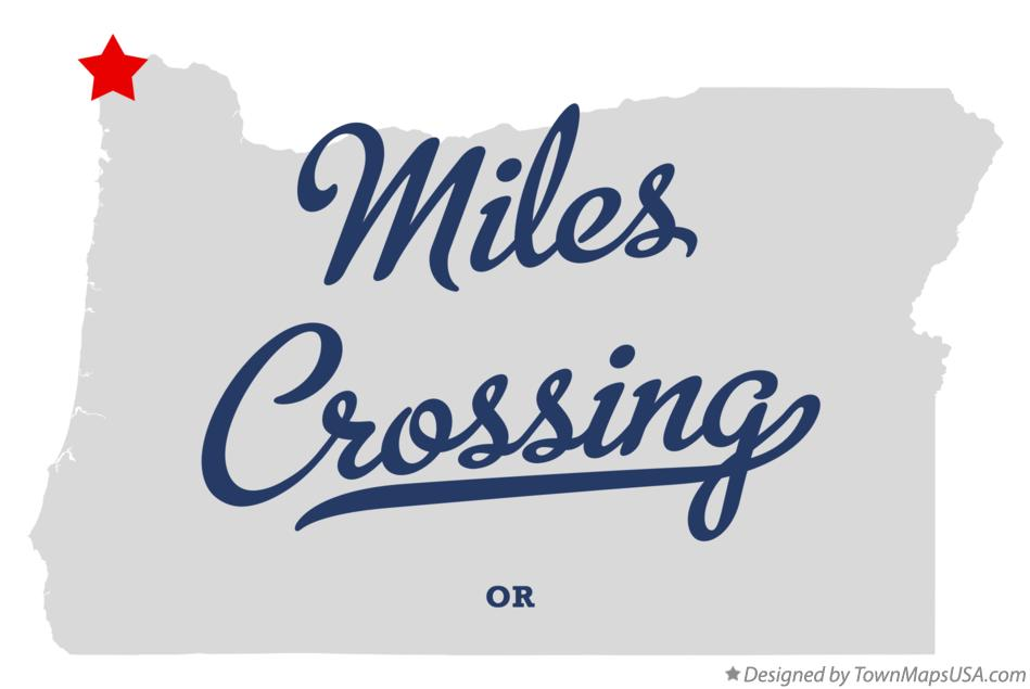 Map of Miles Crossing Oregon OR