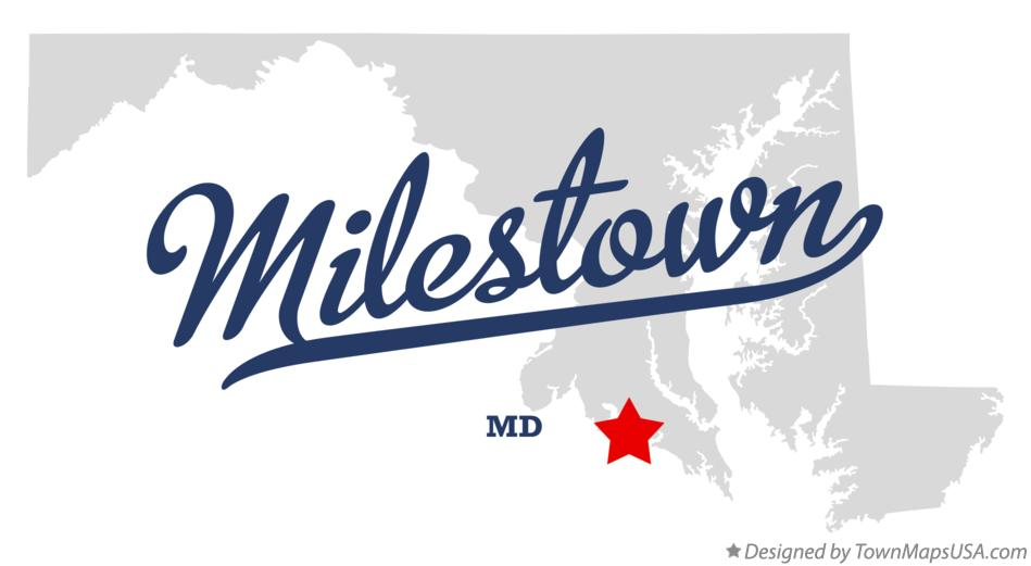 Map of Milestown Maryland MD
