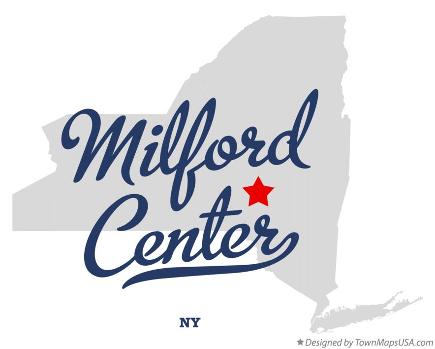 Map of Milford Center New York NY