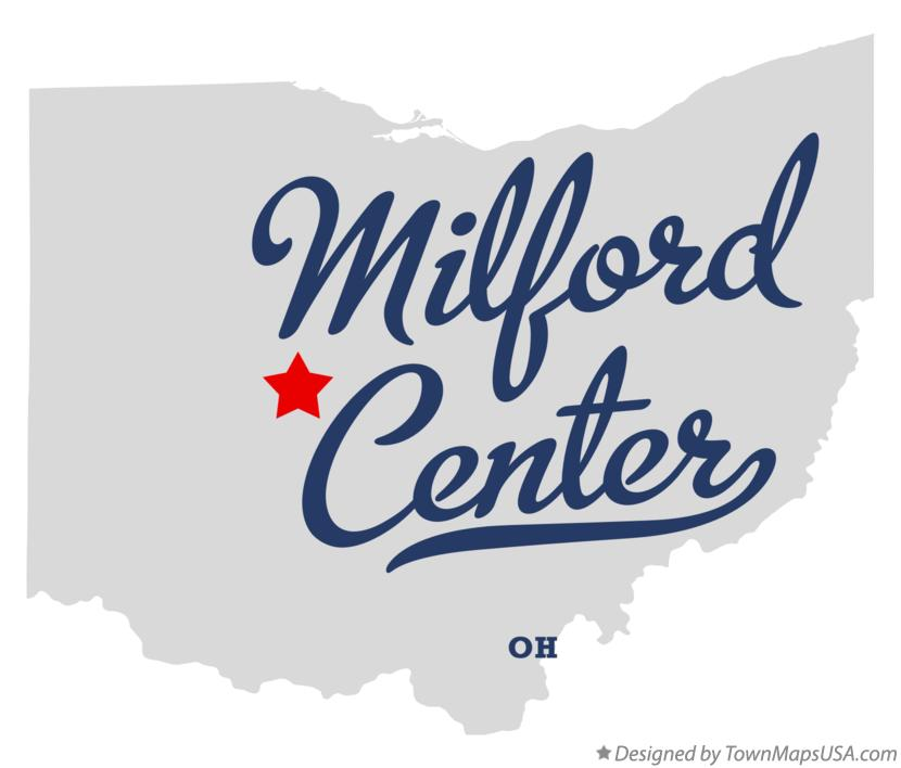 Map of Milford Center Ohio OH